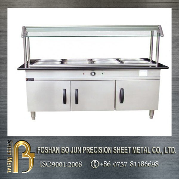 alibaba China custom wheeled stainless steel kitchen cabinet for hotel
