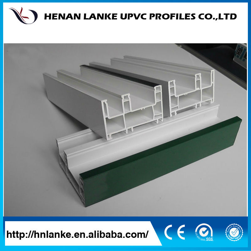 White extruded pvc upvc windows sections