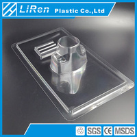 Manufacturer Dongguan Square Transparent PP Plastic Container As Tray Large