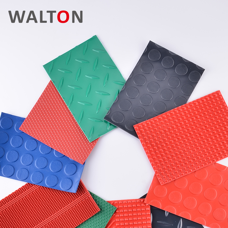 Comfortable easy to clean pvc rubber waterproof kitchen plastic floor mats
