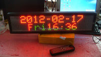 red/green Indoor P7.62 16*96 pixels high brightness led strip display screen with remote;size:77cm*4cm*16cm