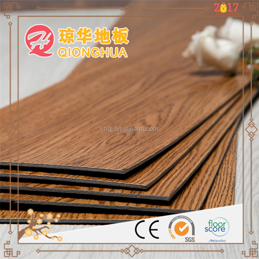 "6x36"" wood grain pvc vinyl flooring indoor waterproof vinyl floor"
