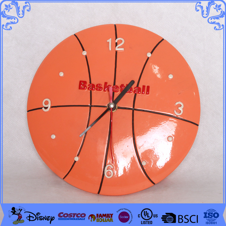 2017 wholesale new design basket ball wall clock