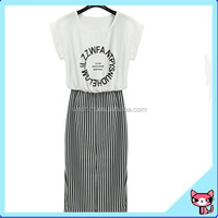 Newest Style T-Shirt Design White One Piece Dress