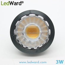 3w LED pin light for ceiling ra>80 with dc12v input,dimmable available