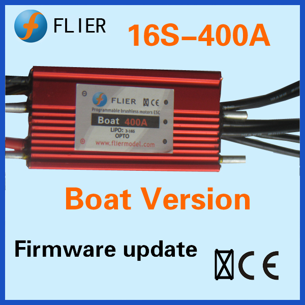 Flier waterproof Brushless electric speed control dc motor 16S 400A rc sailboat