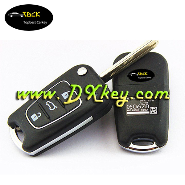 2016 high quality product for hyundai ix35 cover 3 buttons With silver trim replacement key blanks