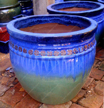 Wholesale Outdoor Glazed Pottery Outdor Clay Planters