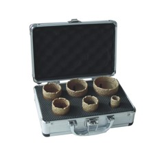 Vacuum brazed diamond core drill kits set