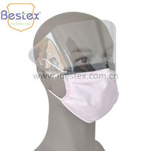 Safety human face mask with shield