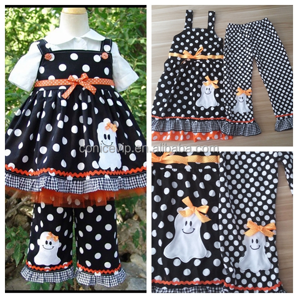 Girl Owl Fall Halloween Holiday Boutique Outfit For Wholesale