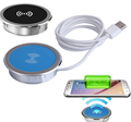Restaurant Office Round shape Qi Wireless Waterproof Desktop Charger for Smart Mobile Phone