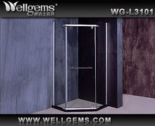 Curved glass shower enclosure L3301 cabina de ducha