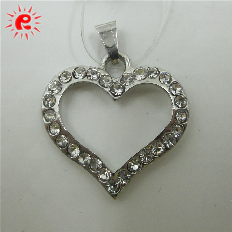 Metal crystals charm pendants for jewelry making imitation love's