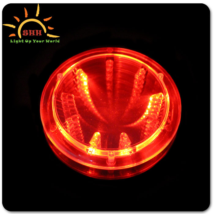 2015 promotion flashing cup coaster led light up tunnel cup coaster for party