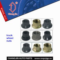 Color wheel nuts for various trucks