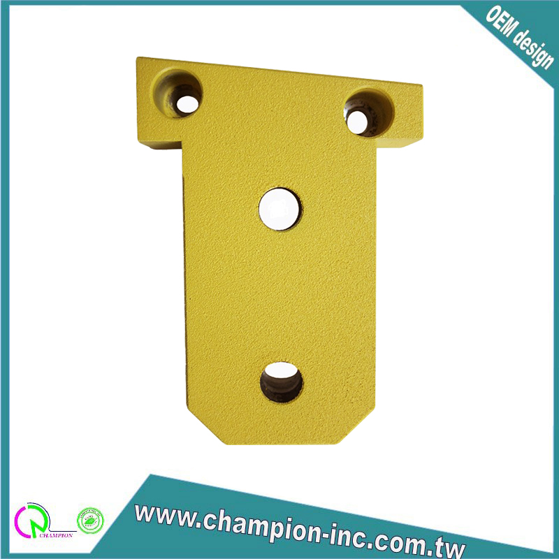 High quality Taiwan made customized yellow coating aluminum 6061 CNC machining parts