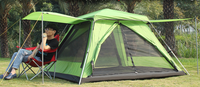 Waterproof 4-6 Person Pop Up Camping Tent Automatic Sunshade Beach Hiking Shelter