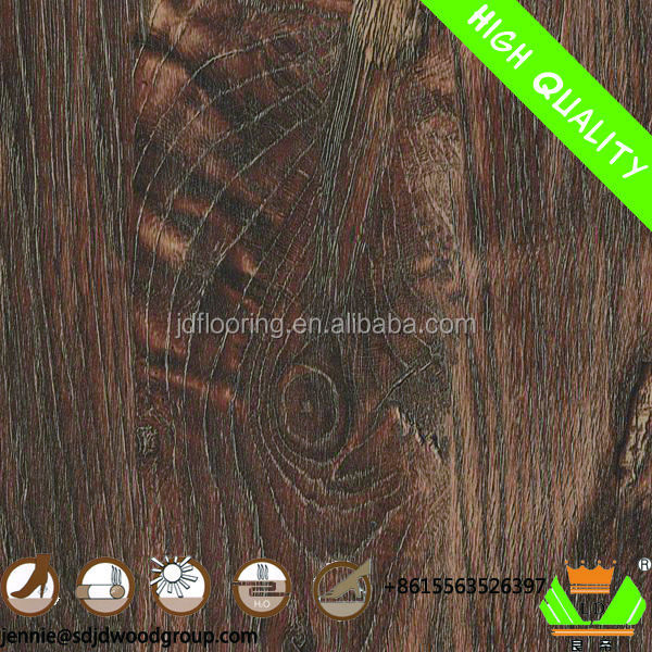 European Style 8mm hdf core brushed laminate flooring Shandong