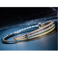High quality Exporting Jewellery SBR0009 18K Gold Bangle Bracelet Solid S925