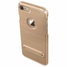 Hotsale Design Shockproof Metal Brush Stand Protective Case for iPhone 5 5S 5SE