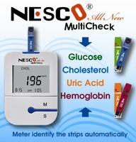 Blood Glucose, Uric Acid, cholesterol, Hemoglobin meter / Monitoring system / 3 in 1