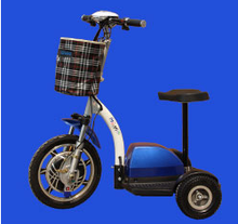 Three wheel comfortable electric scooter with rubber seat adults pedal mobility elderly scooter electric tricycle for handicappe