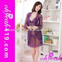 Wholesale hot sale paypal accept sexy silk nighties plus size