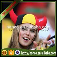 Belgium football fans dense velvet hat vicking hat for Euro 2016
