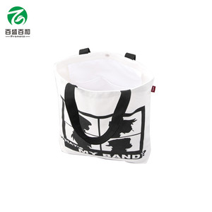 Top Quality Promotional Logo Printed Folding Cotton Tote Bag