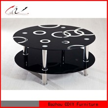 Round Glass Center Coffee Table CT-938