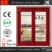 sliding steel wooden door for drawing room