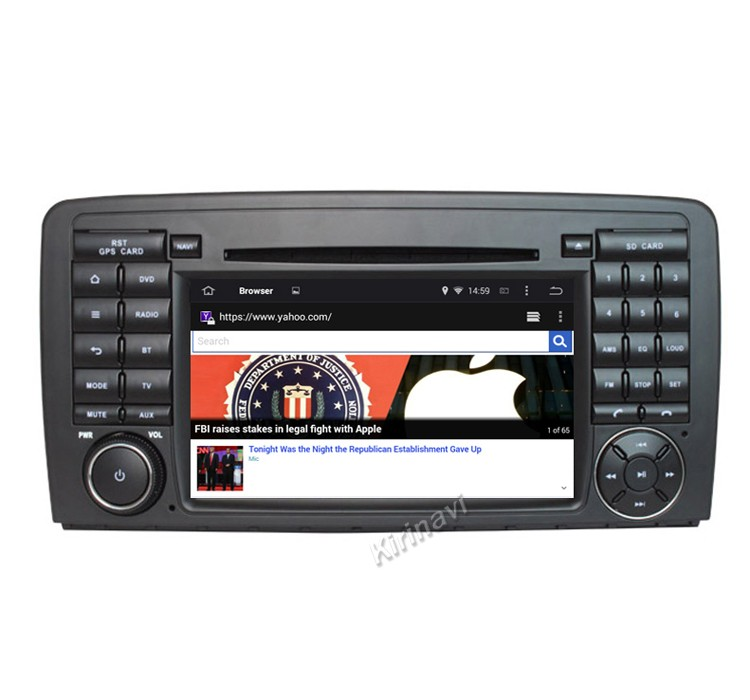 Kirinavi WC-MB7511 android 5.1 car navigation for mercedes for benz ml <strong>w164</strong> 2005-2012 car <strong>dvd</strong> gps player wifi 3g playstore
