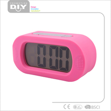 silicon Large table digital alarm clock with colorful backlight