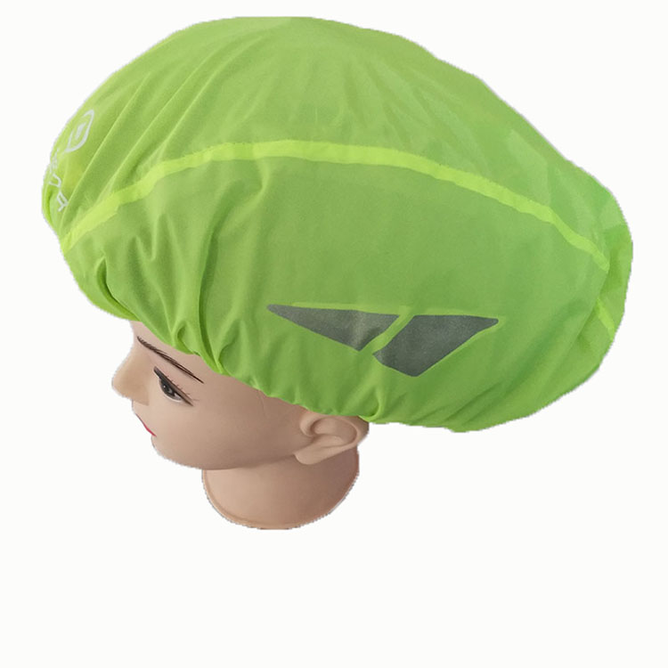 Polyester waterproof bicycle helmet cover with reflective