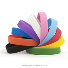 Solid Color Blank Silicone Bracelets