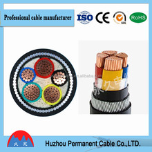0.6/1kv steel wire armoured power cable size 4 core power cable