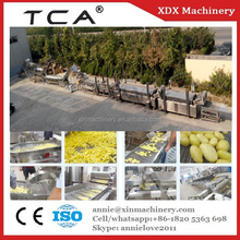 output 1000kg/h iqf frozen french fries machine production line