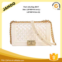 2016 Star Favourites White Color High Quality Hardware PVC Jelly Bag for Women