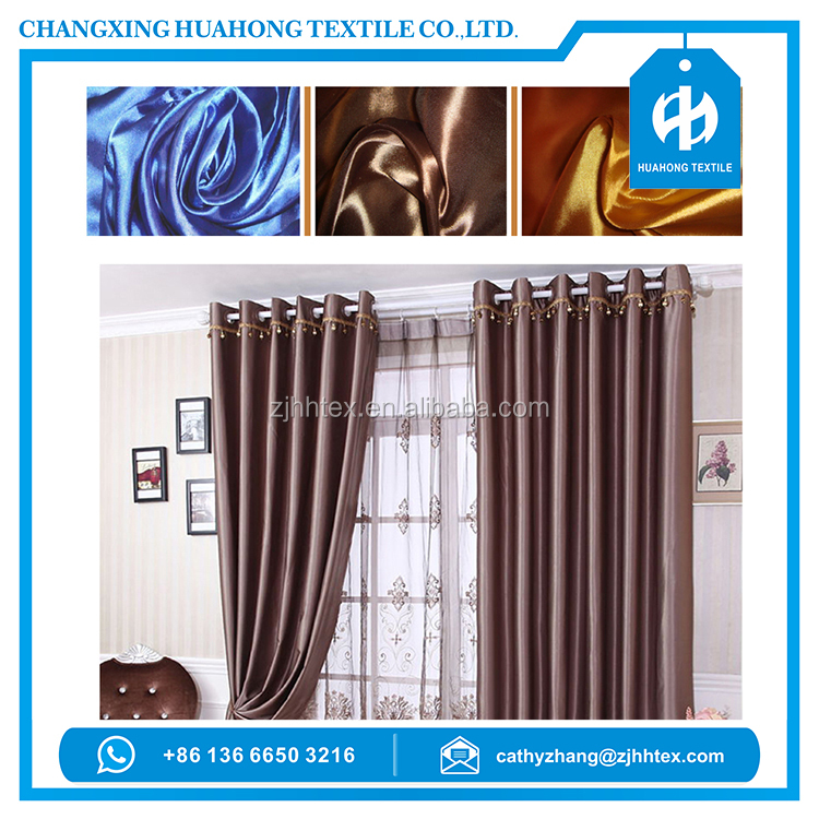 shining satin fabric textile, wall drapes for party from alibaba textile