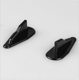 China factory high quality carbon spoiler ABS rear roof spoiler carbon fiber rear wing roof shark fin tail