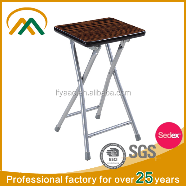 Wooden portable cheap folding stool KP-S239C