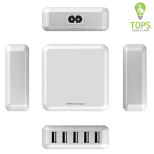 Cost-effective Power Bank 5 port bulk usb phone battery charger with 5 Ports