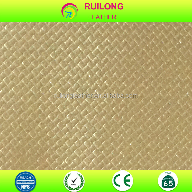 Embossing lattice pattern pvc leather for bag men shoes and home decoration