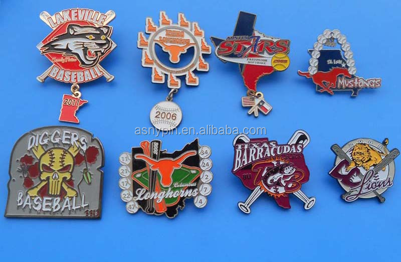 OEM factory customized seven color rainbow badge with butterfly clutch
