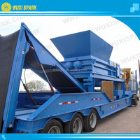 Portable Waste Tire Shredder to make Tyre Rubber Chips for sale