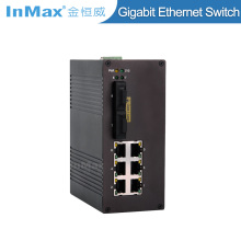 Managed industrial ethernet switch outdoor poe switch 8 port support SNMP VLAN
