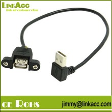 Linkacc-12lp Up Angle USB 2.0 A Male to Female Extension Cable with Panel Mount