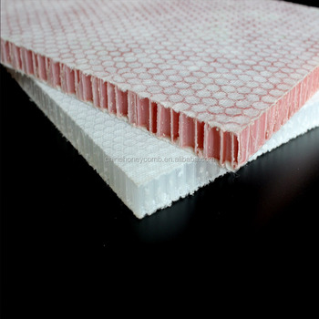 PP honeycomb core board in sandwich panels
