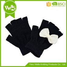 New products special design knit half finger gloves wholesale